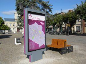 Tablice z planem miasta