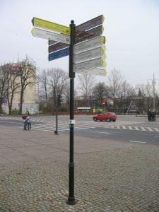 Słupek kierujący dla pieszych w Częstochowie