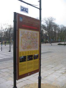 Tablice z planem w miejskim systemie informacji turystycznej w Częstochowie