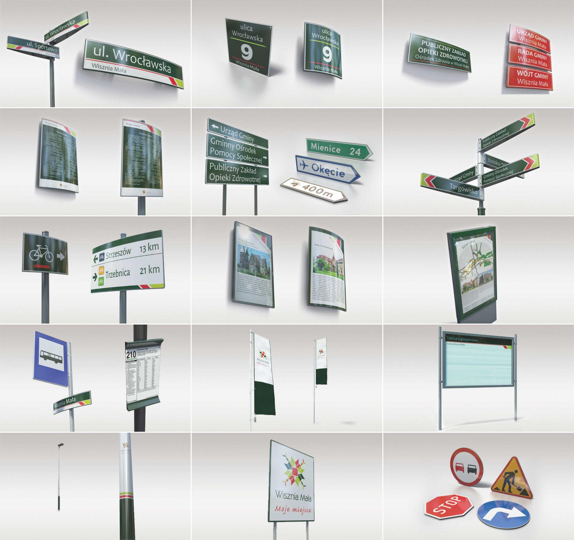 Elementy oznakowania przestrzeni publicznej