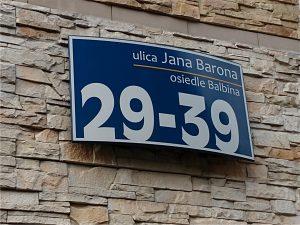 tabliczki adresowe w Tychach