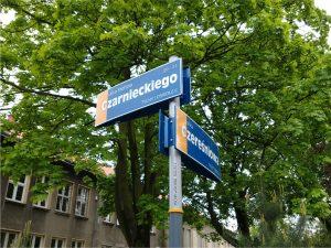 tablice z nazwami ulic w Tychach