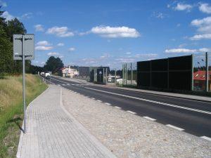 Ekran akustyczny przy DK8 w msc. Borowina